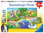 Ravensburger 07602 Puzzle: Tiere im Zoo 2x12 Teile