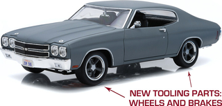 Chevrolet Chevelle SS Fast and Furious IV 2009 grey 1970 1:18 - 12946 Greenlight