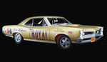 Pontiac GTO Geeto Tiger Drag Car Ace Wilsons Royal gold...