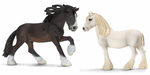 Schleich Farm World Shire Horse Set Stute (13735) und...