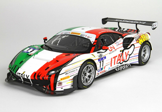 Ferrari 488 GT3 Fia GT Bahrain Nations Cup 2018 Car Nr. 11 with display case 1:18 - P18174 BBR