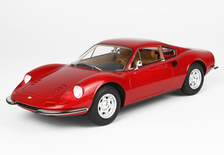 Ferrari Dino 246 GT Tipo 607L 1969 Rosso Rubino Metallizzato with display case  1:18 - P18150F BBR