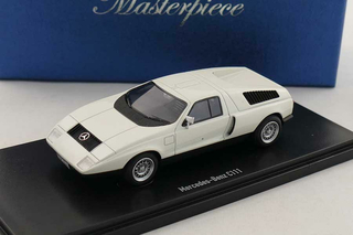 Mercedes C111 Prototype 1969 white Masterpiece 1:43 - 90062 Auto Cult
