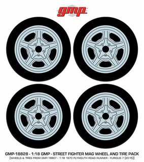 Plymouth Doms Charger Road Runner Wheel & Tire set of 4 1:18 - 18828 GMP