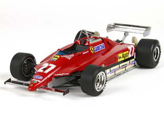 Ferrari 126C2 GP Belgio 1982 Villeneuve with display case 1:18 - P18154 BBR